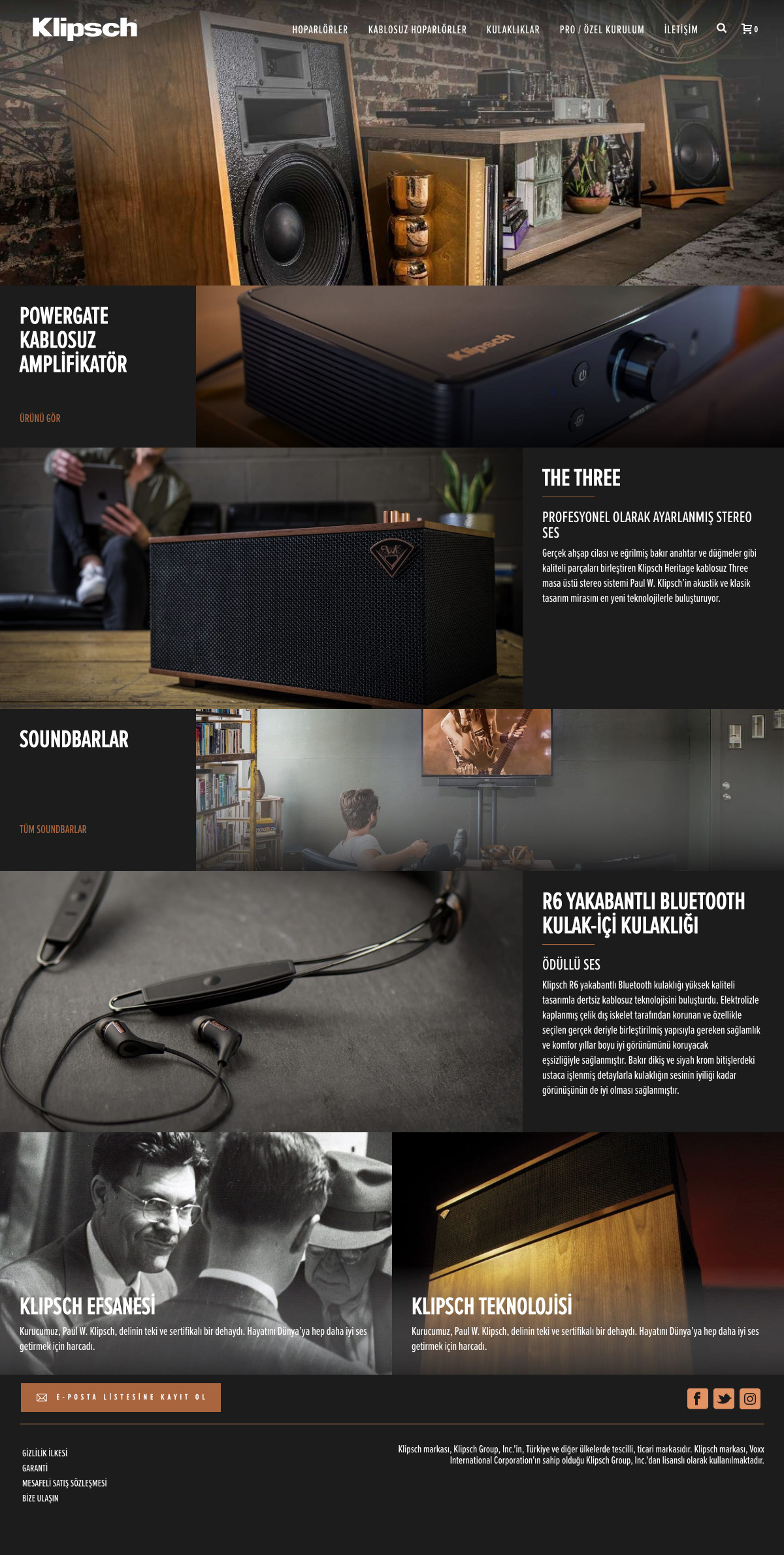Klipsch - UI,UX Design & Wordpress Customization by Gokcin Onur