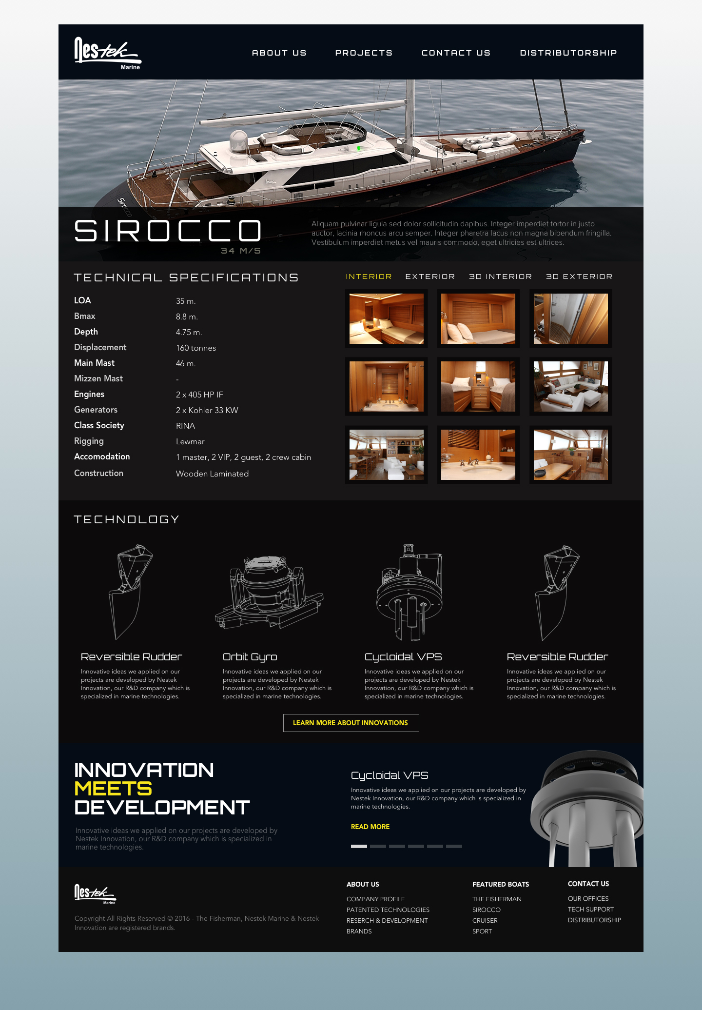 Website design for Nestek Marine