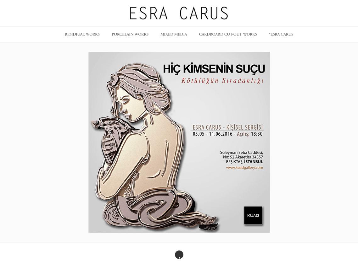 Web Site Design for Esra Carus